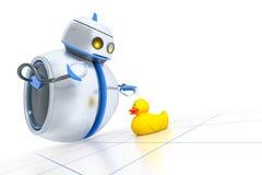 Söt liten robot Arkivfoto