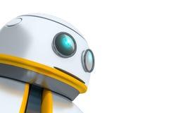 Söt liten robot Arkivbild