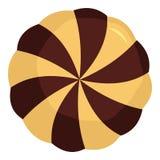 Söt ljusbrun symbol, lägenhetstil stock illustrationer
