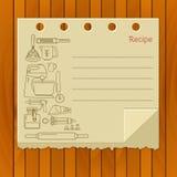 Söt mall för receptvektorkort Arkivbild