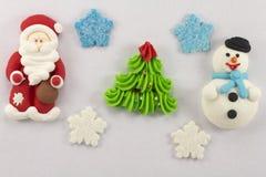 Söt mastix för julstatyetter Arkivfoton