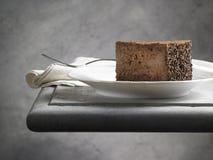 Söt matefterrätt, chokladkaka Royaltyfria Foton