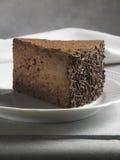Söt matefterrätt, chokladkaka Arkivfoton