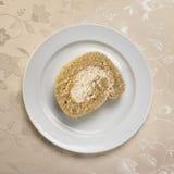 Söt matefterrätt, tårta, i inställning minsta Royaltyfria Foton