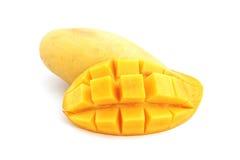Söt mogen gul mango royaltyfri fotografi