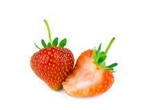 Söt organisk jordgubbe Arkivbild