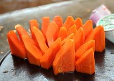 Söt papaya arkivbild