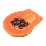 Söt papaya isolerad white Arkivfoto