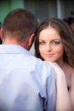 söt parförälskelse Arkivfoton