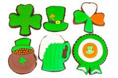 Söt pepparkaka för dag för St Patricks arkivbild