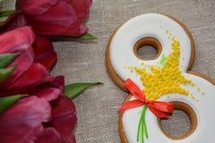8 söt pepparkaka för marsch Royaltyfria Bilder