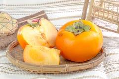 Söt persimmon Royaltyfri Fotografi