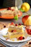 Söt polenta med äpplen Royaltyfria Bilder