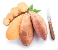 söt potatis bakgrund isolerad white royaltyfri foto