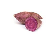Söt purpurfärgad potatis royaltyfria foton