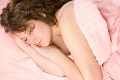 söt sömn Arkivfoto