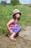 söt scenisk sommar för flicka royaltyfria foton