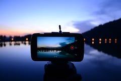 Söt solnedgång Fotografering för Bildbyråer