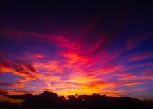 Söt solnedgång Royaltyfria Bilder