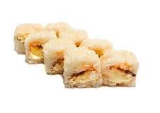 Söt sushi med bananen och ost Royaltyfri Fotografi