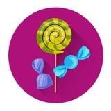 Söt symbol för ferie för godisklubbaallhelgonaafton royaltyfri illustrationer