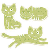 söt vektor för katter Fotografering för Bildbyråer