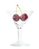 söt wineglass för bunshCherry Fotografering för Bildbyråer