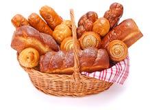 Söta bageriprodukter för raddor arkivbild