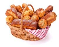 Söta bageriprodukter för raddor royaltyfria bilder