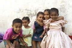 Söta barn i Zanzibar Arkivfoton