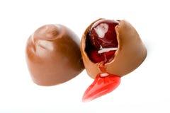 söta choklader Arkivbilder