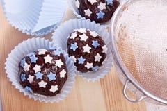 söta chokladpralines Royaltyfri Foto