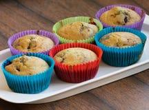 Söta hemlagade muffin Fotografering för Bildbyråer