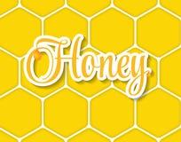 Söta Honey Vector Illustration Background vektor illustrationer