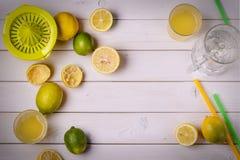 Söta ingredienser för en drink Arkivbild