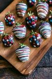 söta jordgubbar Arkivbild
