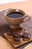 söta kaffekakor Royaltyfri Foto
