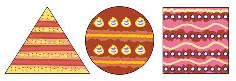 Söta kakor - grafisk stil Arkivbild
