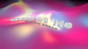 Söta Live Ocean Dream 3D video royaltyfri illustrationer
