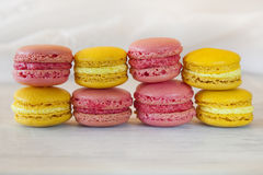 Söta Macarons royaltyfria bilder