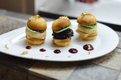 Söta Mini Burgers Royaltyfri Bild