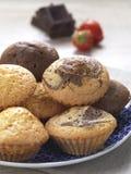 söta muffiner arkivfoto