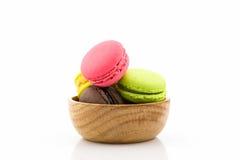 Söta och färgglade franska makron eller macaron Royaltyfri Foto