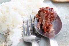 Söta och sura grisköttstöd Royaltyfri Bild
