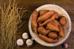söta potatisar Arkivbild