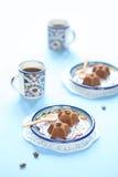Söta stjärnor för chokladkaffe Fotografering för Bildbyråer