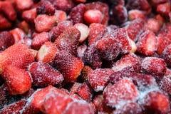 Sötsak fryst jordgubbetextur Arkivbild