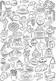Sötsaker stock illustrationer