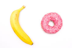 Sötsaker eller frukt, bantar Arkivbilder