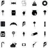 Sötsaksymbolsuppsättning royaltyfri illustrationer